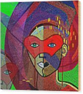 394 - Challenging Woman With Mask Wood Print