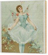 A Ballerina Balances A Liebig Wood Print