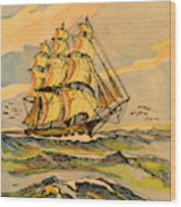 A China Clipper Ship Wood Print