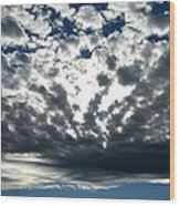 A Glorious Cloudscape Wood Print
