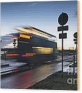 A Guided Bus Cambridgeshire Uk Wood Print