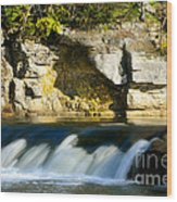 A Quiet Place  Waterfall Wood Print