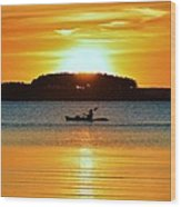 A Reason To Kayak - Summer Sunset Wood Print