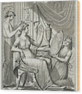 A Roman Lady Has Her Hair Done Wood Print
