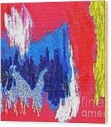 Abstract Tn 005 By Taikan Wood Print