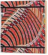 Abstract Fusion 204 Wood Print