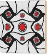 Abstract Geometric Black White Red Art No. 380. Wood Print by Drinka Mercep