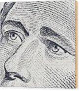 Alexander Hamilton's Ten Dollars Portrait Wood Print