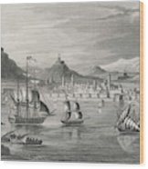 Algiers  Viewed From The Sea Wood Print
