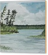 Allequash Lake Wood Print