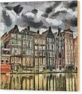 Amsterdam Water Canals Wood Print