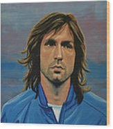 Andrea Pirlo Wood Print by Paul Meijering
