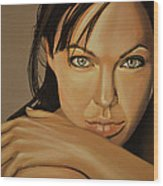 Angelina Jolie 2 Wood Print
