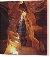 Antelope Canyon Ray Of Hope Wood Print