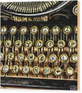 Antique Keyboard Wood Print