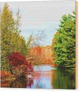 Aspetuck River Easton Ct Wood Print