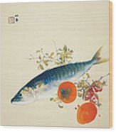 Autumn Fattens Fish And Ripens Wild Fruits Wood Print