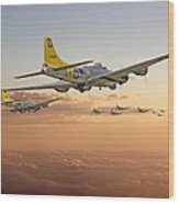 B17 - 486th Bg - Homeward Wood Print