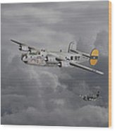 B24 Liberator  446th Bomb Group Wood Print