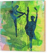 Ballet Watercolor 1 Wood Print
