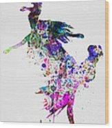 Ballet Watercolor 3 Wood Print