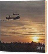 Battle Of Britain Memorial Sunset Wood Print