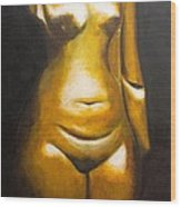 Before Us Iv Nefertiti Wood Print