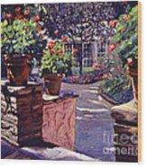 Bel-air Gardens Wood Print by David Lloyd Glover