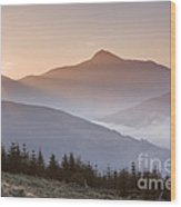Ben Lomond Sunrise Wood Print
