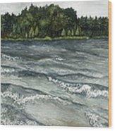 Big Muskallunge Lake  Wood Print by Helen Klebesadel