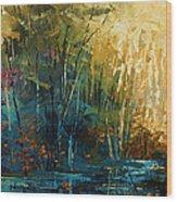 ' Blue Lagoon ' Wood Print