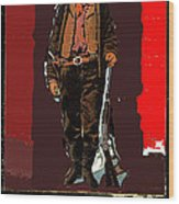 Bogus Drawing Photo Of Billy The Kid Ft. Sumner New Mexico C.1879-2013 Wood Print