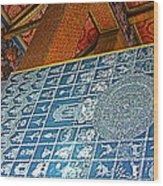 Bottom Of A Foot Of Reclining Buddha In Wat Po In Bangkok-thail Wood Print