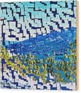 Breaking Away To Donner Lake Wood Print