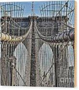 Brooklyn Bridge 3 Wood Print
