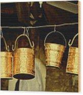 Buckets At Esfahan Market Wood Print