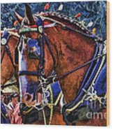 Budwieser Clydesdale Wood Print