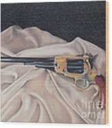 Buffalo Blackpowder Revolver  Wood Print by Elizabeth Dobbs