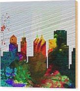 Buffalo City Skyline Wood Print