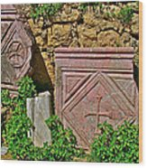 Byzantine Cross In Myra-turkey Wood Print