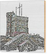 Cabot Tower Wood Print