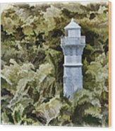 Canal Beacon - Panama Wood Print