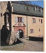Castle Entrance Wood Print