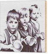 Children Should Not Need Food ... Wood Print