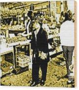 China Town Marketplace Wood Print