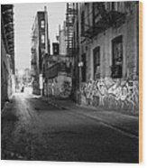Chinatown New York City - Mechanics Alley Wood Print