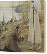 Christ And Mary Magdalene A Finnish Legend Wood Print