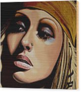 Christina Aguilera Painting Wood Print