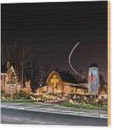 Christmas Celebration At Billy Graham Wood Print