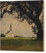 Church On The Plain Wood Print
